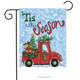 Tis The Season Pickup Garden Flag -g00719