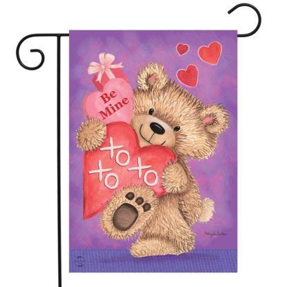 Be Mine Bear Garden Flag -g00800