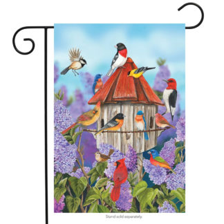 Birds & Lilacs Garden Flag - g00343
