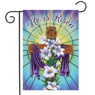 Easter Cross Religious Garden Flag -g00785