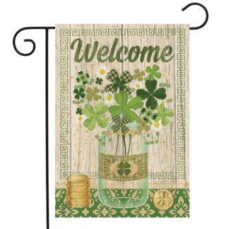 Lucky Clovers Garden Flag -g00770