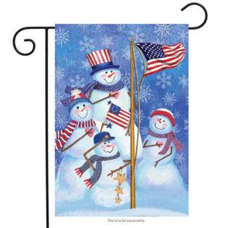 Patriotic Snowmen Garden Flag - g00257