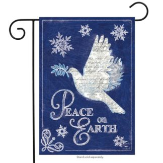 Peace On Earth Garden Flag - g00697