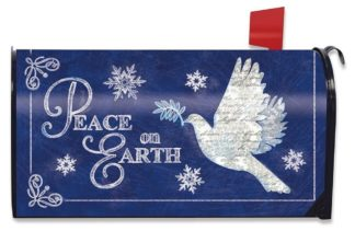 Peace On Earth Mailbox Cover m00697