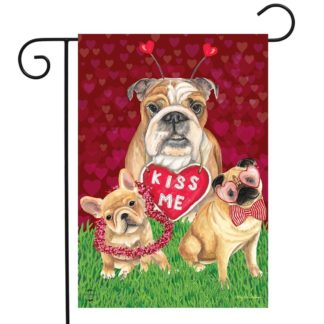 Puppy Love Garden Flag -g00802