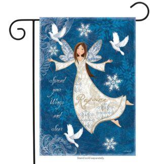 Rejoice Angel Garden Flag -g00696