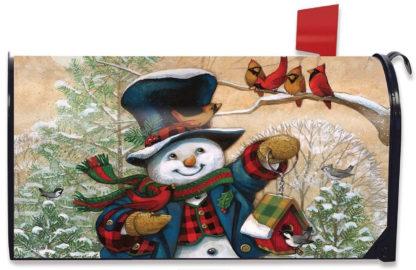 Winter Friends Mailbox Cover (Snowman) - m00089