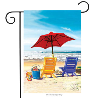 A Day at the Beach Garden Flag - g00465