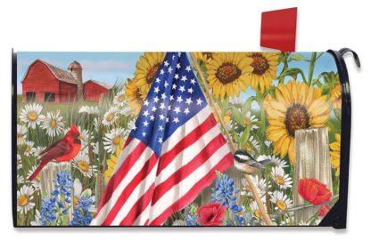 America the Beautiful Mailbox Cover - m00387