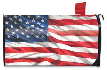 American Flag Mailbox Cover - m00590