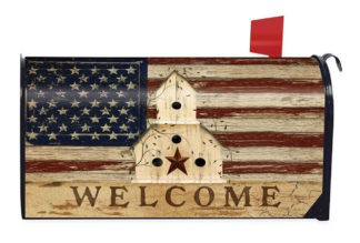 Americana Mailbox Cover-m00118