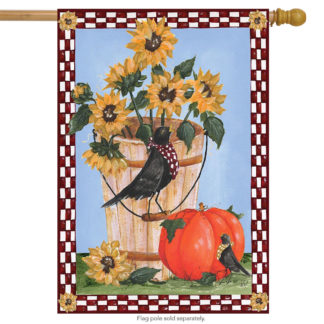 Autumn Crows Garden Flag - g00238