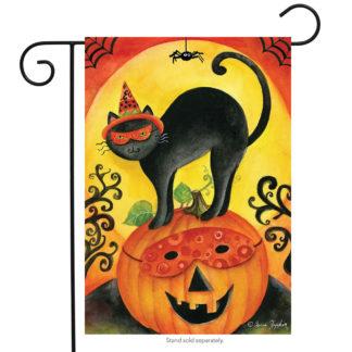 Black Cat Garden Flag - g00489