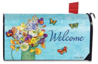 Bouquet of Cheer Mailbox Cover - m00389