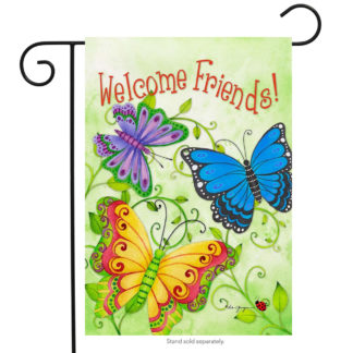 Butterfly Welcome Garden Flag-g00163