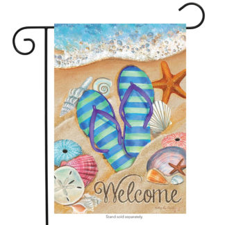Day in the Sun Garden Flag (Flip Flop) - g00384