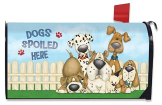 Dogs Spoiled Here Mailbox Cover - m00396