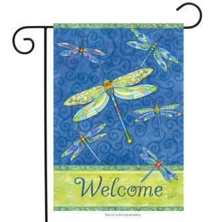Dragonfly Flight Garden Flag-g00150