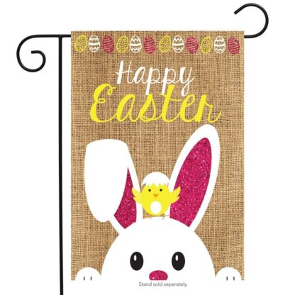 Easter Burlap Garden Flag - g00648
