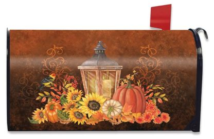 Fall Lantern Mailbox Cover - m00503
