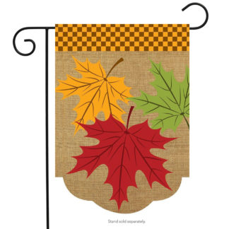 Fall Leaves Burlap Garden Flag - g00560