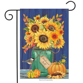 Fall Mason Jar Garden Flag -g00688