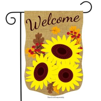 Fall Sunflowers Burlap Garden Flag -g00724
