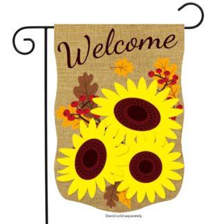 Fall Sunflowers Burlap Garden Flag -g00724