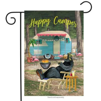 Happy Camper Bear Garden Flag - g00610