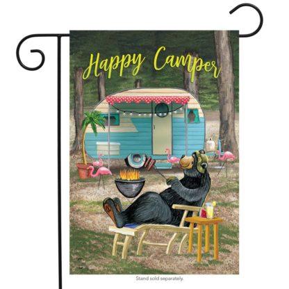 Happy Camper Bear Garden Flag - g00610