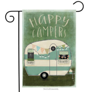 Happy Campers Garden Flag - g00442