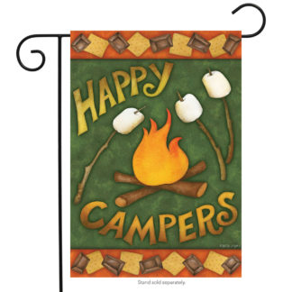Happy Campfire Garden Flag - g00474