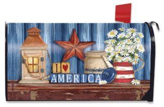 Lantern & Daisies Mailbox Cover - m00381