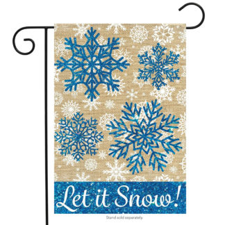 Let It Snow Burlap Garden Flag -g00565
