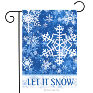 Let It Snow Snowflakes Garden Flag - g00578