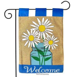 Mason Jar Burlap Garden Flag - g00650