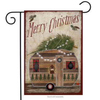 Merry Christmas Camper Garden Flag - g00222