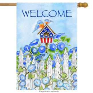 Patriotic Birdhouse Garden Flag -g00048