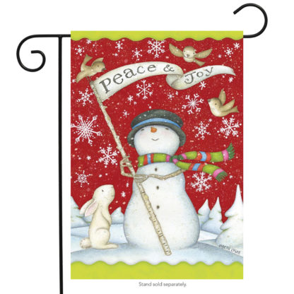 Peace and Joy Garden Flag (snowman) - g00252