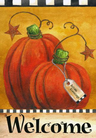 Pumpkin Autumn Welcome Garden Flag - g00063