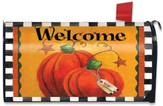 Pumpkin Autumn Welcome Mailbox Cover -m00063