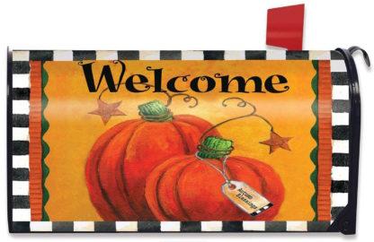 Pumpkin Autumn Welcome Mailbox Cover -m00063