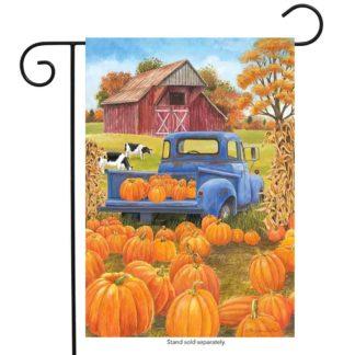 Pumpkin Patch Pickup Garden Flag - g00482