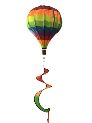 Rainbow Deluxe Hot Air Balloon Wind Twister -w00033