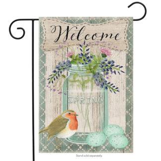 Springtime Welcome Garden Flag - g00419