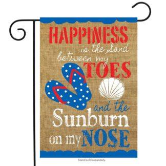 Summer Happiness Burlap Garden Flag -g00655