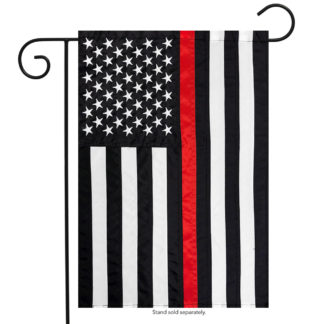 Thin Red Line Embroidered Garden Flag-g00671