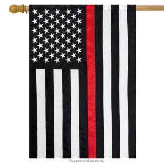 Thin Red Line Embroidered House Flag -h00671