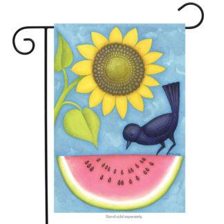 Watermelon & Sunflowers Garden Flag -g00333