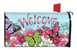 Welcome Butterfly Mailbox Cover - m00034